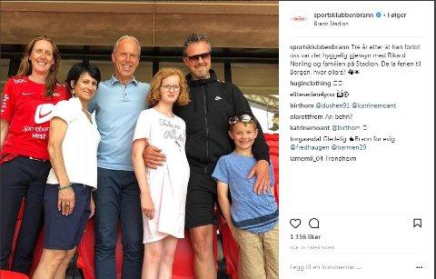 Vibeke Johannesen og Rune Soltvedt fikk overraskende besøk av Rikard Norling og hans familie denne helgen.