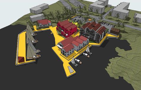 Utbygging: Sjøberg Ferie har store planer om en utbygging av boliger og næringsdel, som skal gi grunnlag for å styrke driften av feriesenter og restaurant på stedet.