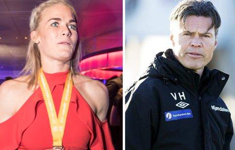 TWITTER-FEIDE: Mjøndøling Veronica Kristiansen og MIF-trener Vegard Hansen.
