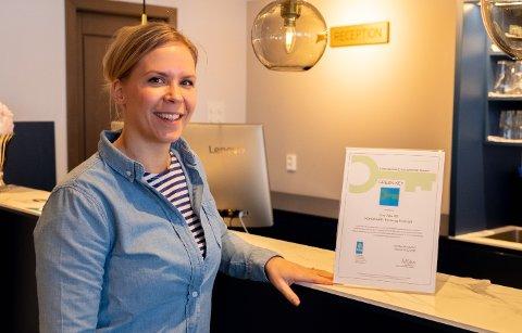 GRØNT: Håpet for Emmi Kauppinen er å inspirere andre bedrifter til å tenke grønt og bidra positivt til klimaforandringer.