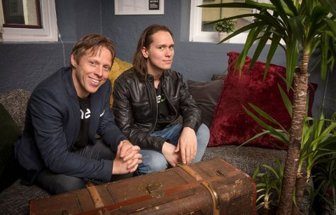 NESTEN I MÅL: Gunnar Garfors og You-tubestjerna Per Fredrik «PelleK» Åsli. er no på oppløpssida med godt håp om å sette ny verdsrekord.