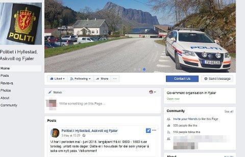 PÅ PLASS: No kan folk kontakte politiet i Hyllestad, Askvoll og Fjaler.