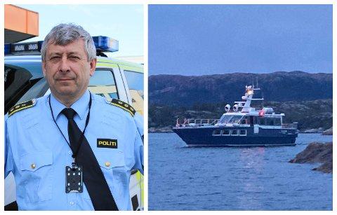 STOD IKKJE TIL Å REDDE: Lensmann i Nordhordland, Kjell Idar Vangberg, fortel at livet til mannen dessverre ikkje stod til å redde. Lensmannen er likevel glad for at dei klarte å finne han.