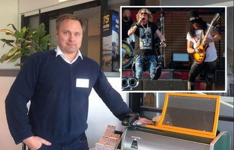 Bjørn Bagstevold ser frem til at Guns N'Roses med Axl Rose og Slash kommer til hans nye hjemmebane.