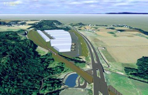 VIL IKKE: Bane NOR vil ikke bygge sporveksel for et sidespor inn til den nye godsterminalen.