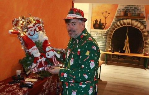 Trond Vidar Mjørlaug fra Lantmännen Unibake valgte å gå for en korona-variant til årets julesokk.