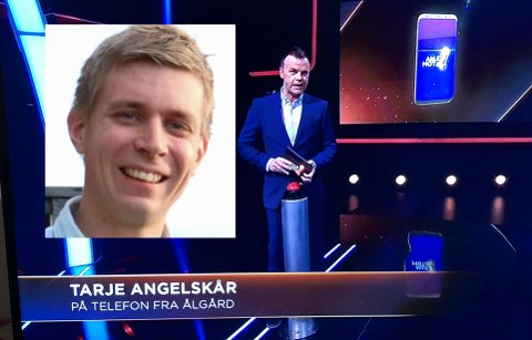 Tarje Angelskår benket seg foran fjernsynsskjermen og deltok i Alle mot 1 lørdag. Det gjorde han smart i.