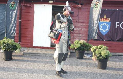 IKKE FULLKLAFF: Daniel Sørli klarte ikke å henge med i kampen om kongetittelen på Landsskytterstevnet i Evje onsdag kveld.