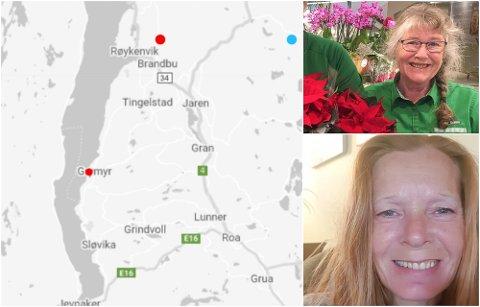 MERKET SKJELVET: Kari Frøyhov og Iren Bergsrud er to av flere som merket jordskjelv på Hadeland lørdag.