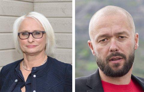 IKKE AVGJORT: Verken Høyre-leder Elin Lexander eller Aps gruppeleder og stortingskandidat Arve Sigmundstad tar noe for gitt. - Den nøyaktige målingen får vi mandag, sier de.