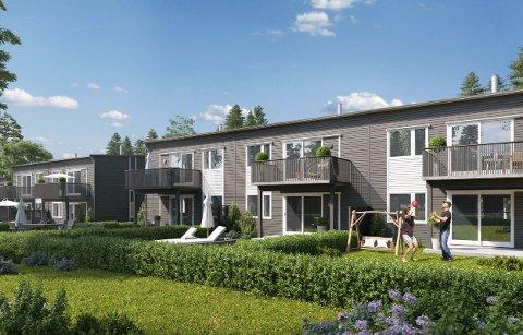 NYE BOLIGER: I Åkershagan er det i midten av august salgsstart på 31 boliger.
