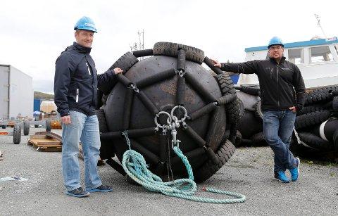 SATSER: Lars Sigvart Hop og Roy Aleksander Henriquez (t.h) satser stort i Royal Industriservices AS.