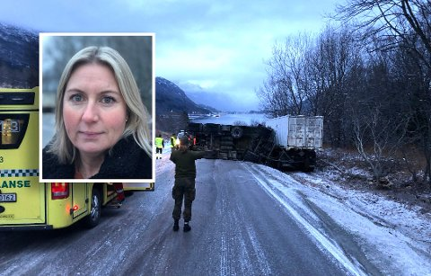 Linn-Anita Ravn trodde først også hun kom til å kollidere i da Dragvikbakken.