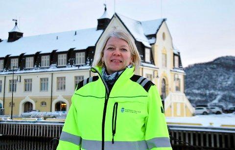 GODE TIDER: Havnedirektør Anne Britt Bekken presenterer millionoverskudd for Harstad Havn.