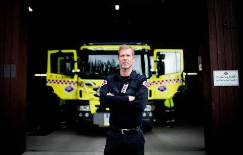 Forberedt: Brann- og redningssjef Arne Stadheim i Nedre Romerike brann- og redningsvesen. Foto: Lisbeth Lund Andresen.