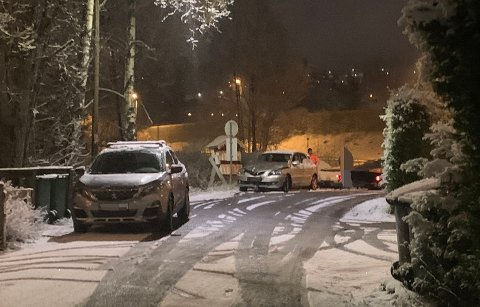 SMELL: Tre biler var involvert i et trafikkuhell fredag morgen i Fetsund.