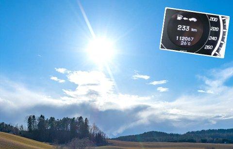 HETT: Onsdag ble det målt høye temperaturer på Romerike. Ett av stedene ble det registrert nye varmerekord.