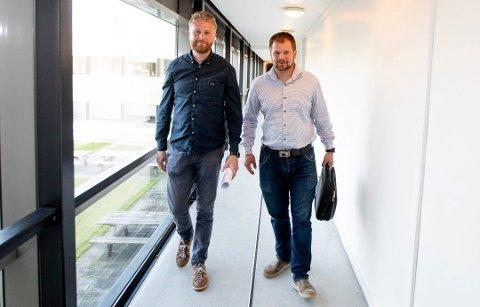 NY TID: Ordfører og varaordfører i Ullensaker kommune Eyvind Schumacher (Ap) og Lars Halvor Stokstad Oserud (Sp) er begge fornøyde med å ha fått stoppet flere utbyggingsplaner gjennom kommuneplanen som ble vedtatt tirsdag.