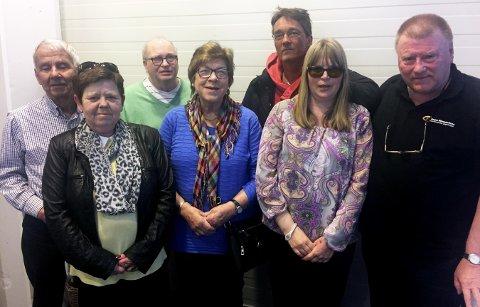 Nyvalgt styre: Fra venstre: Eyolf Dannevig, Liv A. Hansen, Arvid Meløy, Mai-Liss Olsen, Paul Olav Sandhei, Heidi Sveen og Kåre Kjennerud.