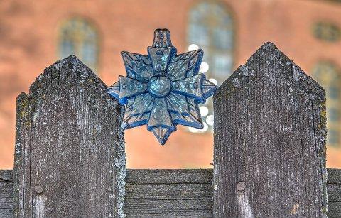 GLASSKUNST: Stjernen er designet av Ingrid Austlid Rise, og kan kjøpes.