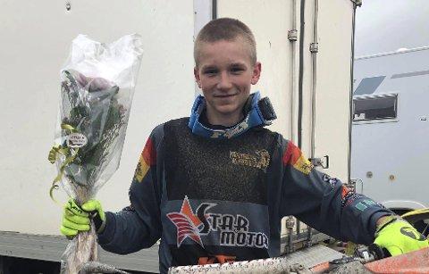 NM-BRONSE: sandsværingen Mathias kjørstad var fornøyd etter NM i speedcross.