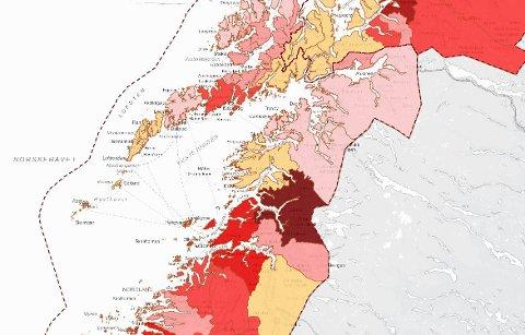Smittede i Lofoten og nærområdet fredag 1. oktober.