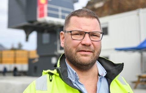 Bedre: 2021 blir et langt bedre år for Betong & Entreprenør i Kabelvåg og direktør Trygve Nilsen. Han håper politikerne går inn for større steinbrudd på Rækøya.