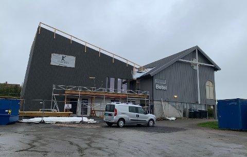 Utbyggingen på Betel-bygget går fremover.