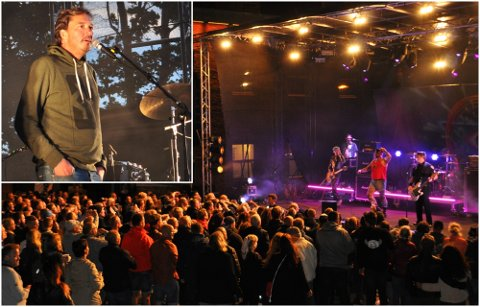 ROCKET PÅ VERKET: Turbonegro rocket på scenen under Festivalen Sin i helgen. Tony Fjærgård (innfelt) har en drøm om en internasjonal artist til festivalen i 2020.