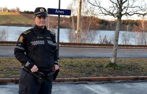INNSATSLEDER Marit Furuseth var politiets innsatsleder på stedet. Da politiet pågrep mannen.