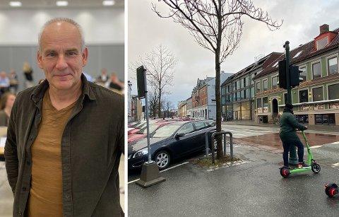 REAGERER: MDG-politiker Ola Lund Renolen hevder det vil bryte med inngåtte avtaler om sykkelplanene i Fjordgata blir utsatt.