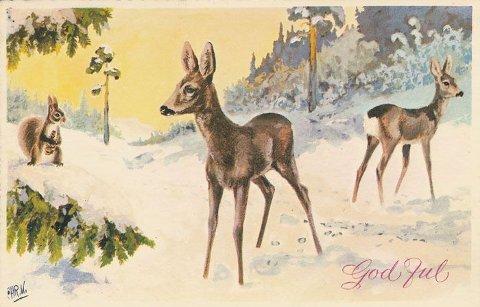 Julekort av Christian Kittilsen