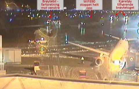 NESTENULYKKE: Et Widerøe-fly måtte bråbremse for å unngå kollisjon med en brøytebil på Bodø lufthavn i fjor. Det kommer fram av en rapport fra havarikommisjonen.