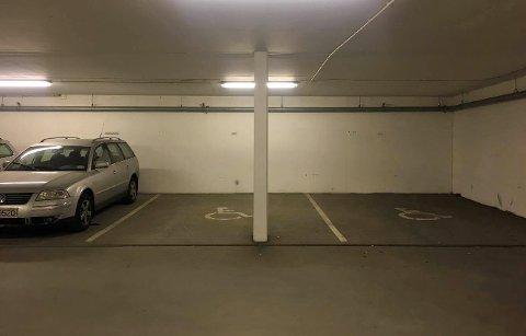 SPESIELL: Den er ikke helt som andre parkeringsplasser, men den fungeret utmerket, mener boligutvikleren på Workintoppen i Tromsø.