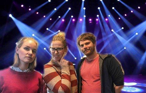 QUIZMASTERE: Astrid Øvre Helland, Marte Hotvedt og Gaute Bergsli er Nordlys sine quizmastere på første quizkveld førstkommende torsdag.