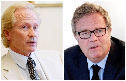 MØTES I RETTEN: PM International, representert ved advokat Per Danielsen (t.v.), har saksøkt TV2, representert ved advokat Jon Wessel-Aas. Arkivfoto: NTB scanpix.