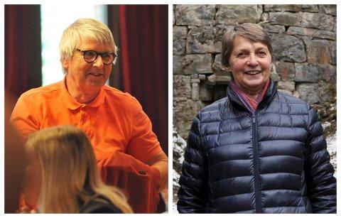 DØDT LØP: En meningsmåling gir like mange stemmer til SV og Venstre, her representert ved Hans Petter Olsen og Kristin Ringerud. Men bare én gis plass i kommunestyret. Sentio Research forklarer dette med loddtrekning.