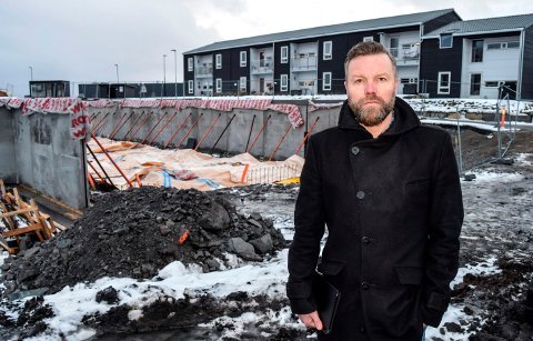 BYGGER: - Nå er vi i gang med siste trinn av boligutbyggingen på Vallejordet, sier Tor Arne haugen hos Nordbolig Innlandet.