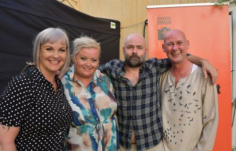 VEL BLÅST: Marianne Steinsrud,  Mari Cathrine Brostuen Hagen, Nils Jørgen Nygaard og Hans Esben Gihle er glade for å endelig kunne spille for folk, og gleder seg til flere show i sommer.