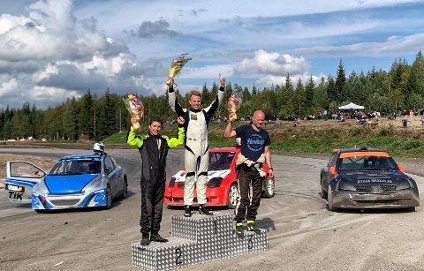 De tre beste i klasse 1: vinner Espen Isaksætre, nr to Christian Hobæk og nr tre Asgeir Tharaldsen.