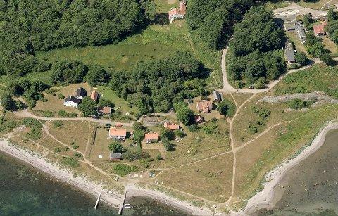 Det er i bakkant av hytta lengst til venstre i bildet at det skal hugges trær.