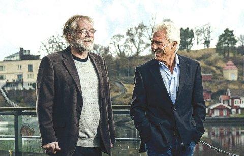 UTBYGGERE: Anders Hoel og Petter Øygarden får tillatelsene de trenger for å bygge øy.