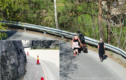 KORVETTENBAKKEN: Et utrygt sted for myke trafikanter, mener beboer Inge Rønnerud bestemt.