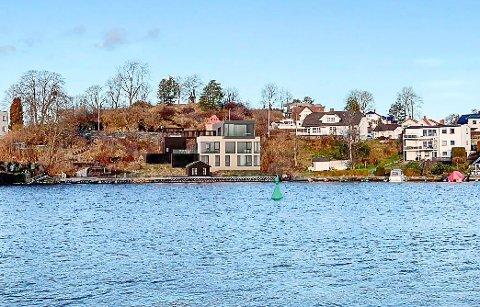 DIGERT: Paret og arkitekten deres vil bygge denne villaen.