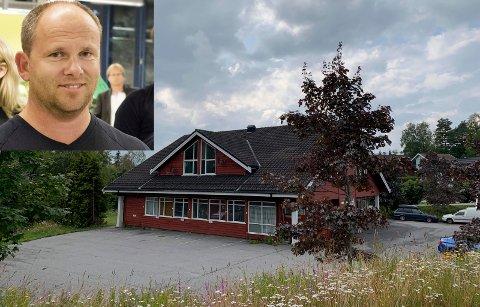 SMEDEN: Johnny Karlsen mener dette bygget i Haug er perfekt egnet til dagligvareforretning.