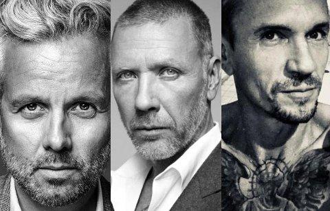 Trio: Ari Behn, Mikael Persbrandt og Espen Eiborg stiller ut i Lillestrøm i helga. Foto: Galleri Art Design