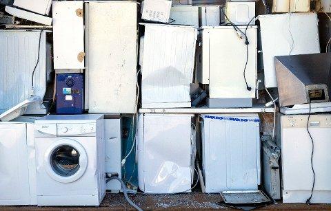 NORDMENN VERST: Vi har mest EE-avfall (elektriske og elektroniske apparater) per innbygger av alle OECD-land. Drøyt 28 kilo per år.