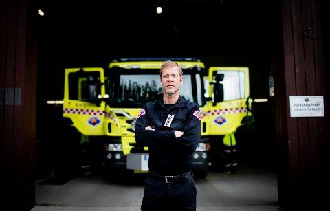 BEKYMRET: Arne Stadheim. Brann- og redningssjef på Nedre Romerike. (Foto: Lisbeth Lund Andresen)