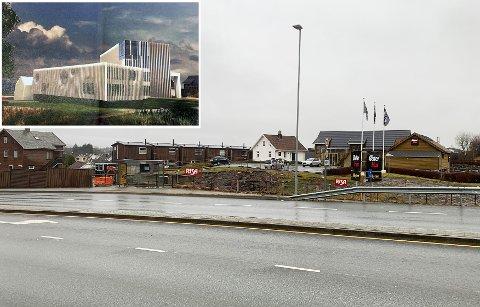 Her skal Øster Hus reise splitter nytt administrasjonsbygg.