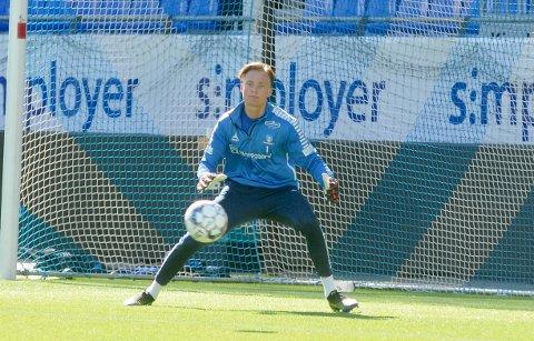 Vanskelig situasjon: Simen Vidtun Nilsen keeper i Sarpsborg 08 er i en vanskelig situasjon når han ikke får spilt kamper.